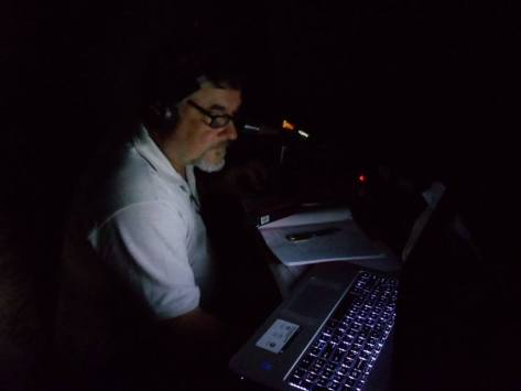 KB1WRZ, Dave Ramsey, operating in late evening/early morning.
